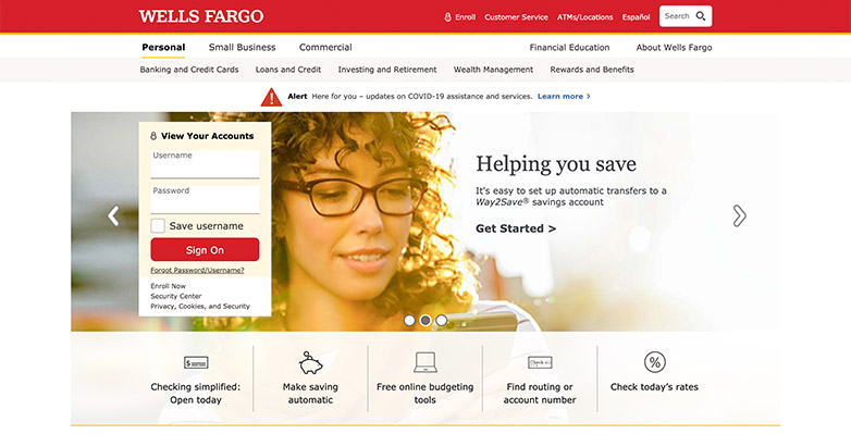 design for bank website
